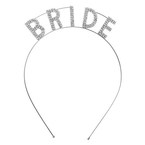 "Headband: ""Bride"" Tiara Rhinestones Headband"